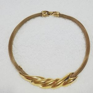 Monet signed Golden Tone Necklace